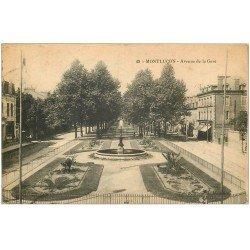 carte postale ancienne 03 MONTLUCON. Avenue de la Gare 1916