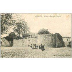 carte postale ancienne 22 GUINGAMP. Château de Françoise d'Amboise 1914