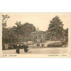 carte postale ancienne 22 GUINGAMP. Entrée du Jardin Public