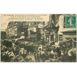 carte postale ancienne 22 GUINGAMP. Fêtes Couronnement N.D de Bon-Secours 1910. Procession