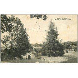carte postale ancienne 22 GUINGAMP. Un coin du Jardin Public 1916