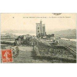 carte postale ancienne 22 ILE DE BREHAT. La Chambre et les Iles Laveret 1919