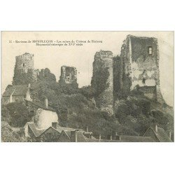 carte postale ancienne 03 MONTLUCON. Château de Hérisson 1917