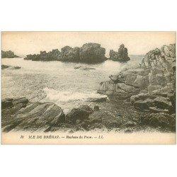 carte postale ancienne 22 ILE DE BREHAT. Rochers du Paon