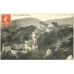 carte postale ancienne 01 Fort de PIERRE-CHATEL 1912
