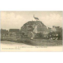 carte postale ancienne 22 ILE DE BREHAT. Village de Saint-Michel