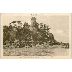 carte postale ancienne 22 LES BORDS DE LA RANCE. Le Chêne Vert. Château