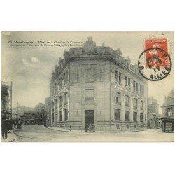 carte postale ancienne 03 MONTLUCON. Hôtel Chambre du Commerce 1917 avec bureau de Poste