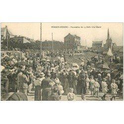 carte postale ancienne 22 PERROS-GUIREC. Procession du 15 Août à la Clarté