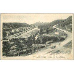 carte postale ancienne 22 SAINT-BRIEUC. Boulevard et Rivière 1926