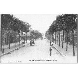 carte postale ancienne 22 SAINT-BRIEUC. Boulevard National animé