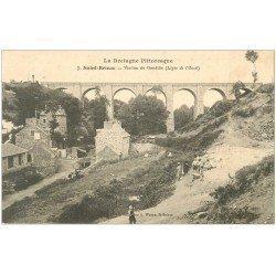 carte postale ancienne 22 SAINT-BRIEUC. Gamins au Viaduc de Gouëdic