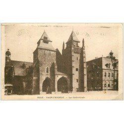 carte postale ancienne 22 SAINT-BRIEUC. La Cathédrale 1937