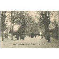 carte postale ancienne 22 SAINT-BRIEUC. La Grande allée des Promenades (défaut)