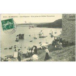 carte postale ancienne 22 SAINT-BRIEUC. Les Régates vue de l'Hôtel Terminus 1909