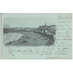 carte postale ancienne 22 SAINT-QUAY-PORTRIEUX. 1901 la Plage