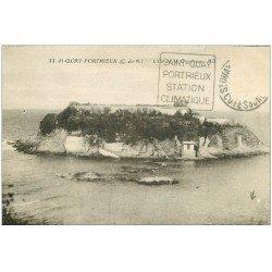 carte postale ancienne 22 SAINT-QUAY-PORTRIEUX. Ile de la Comtesse 1913. timbre manquant