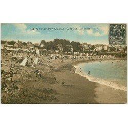 carte postale ancienne 22 SAINT-QUAY-PORTRIEUX. La Plage 1931