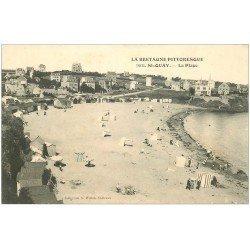 carte postale ancienne 22 SAINT-QUAY-PORTRIEUX. La Plage 9203