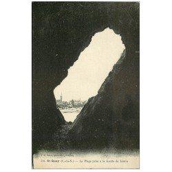 carte postale ancienne 22 SAINT-QUAY-PORTRIEUX. La Plage de la Grotte de Lisnin