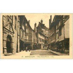 carte postale ancienne 03 MONTLUCON. Place Saint-Pierre 1932
