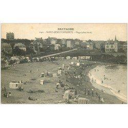 carte postale ancienne 22 SAINT-QUAY-PORTRIEUX. La Plage Nord 1140