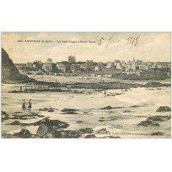 carte postale ancienne 22 SAINT-QUAY-PORTRIEUX. Les Trois Plages 1915