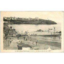 carte postale ancienne 22 SAINT-QUAY-PORTRIEUX. Piscine d'eau de mer 1939