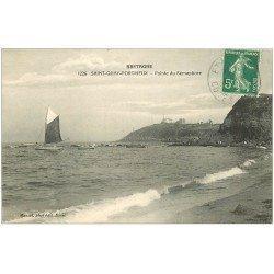 carte postale ancienne 22 SAINT-QUAY-PORTRIEUX. Pointe du Sémaphore 1912