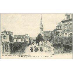 carte postale ancienne 22 SAINT-QUAY-PORTRIEUX. Rue de la Plage