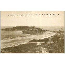 carte postale ancienne 22 TREBEURDEN. Roches Blanches. Castel et Ile Millau