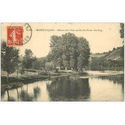 carte postale ancienne 03 MONTLUCON. Rives du Cher près du Gour du Puy 1912
