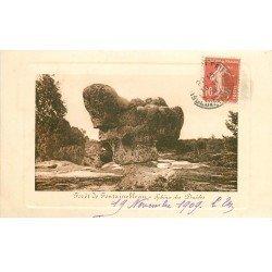 carte postale ancienne 77 FONTAINEBLEAU 16 cpa 1909. Forêt et Palais