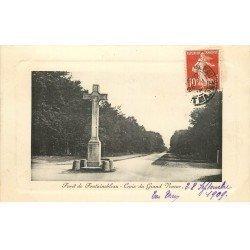77 FONTAINEBLEAU. 25 CPA. Croix Calvaire Grand Veneur Vitry, Tour Denecourt, Mare aux Fées, Grotte Cristauxet Roches