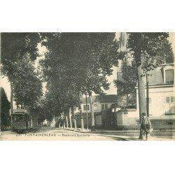 carte postale ancienne 77 FONTAINEBLEAU. Boulevard Gambetta