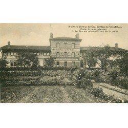 carte postale ancienne 77 AVON. Ecole des Pupilles Uruguay-France. Bâtiment principal et Jardin