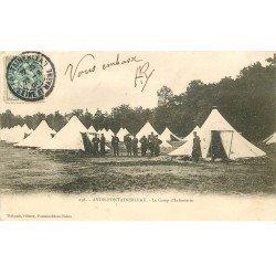 carte postale ancienne 77 AVON. FONTAINEBLEAU. Camp d'Infanterie 1905