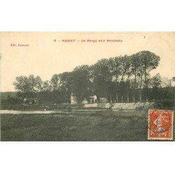 carte postale ancienne 77 ANNET. La Berge aux Brochets 1912. Signé Subercaze