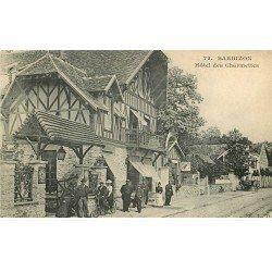 carte postale ancienne 77 BARBIZON. Hôtel des Charmettes 1907