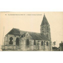 carte postale ancienne 77 BARCY. Eglise bombardée 1917