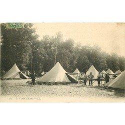 carte postale ancienne 77 FONTAINEBLEAU. Camp d'Avon Repos 288. Militaires et Campement
