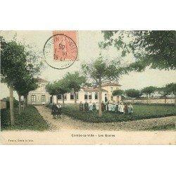 carte postale ancienne 77 COMBS-LA-VILLE. Les Ecoles 1905