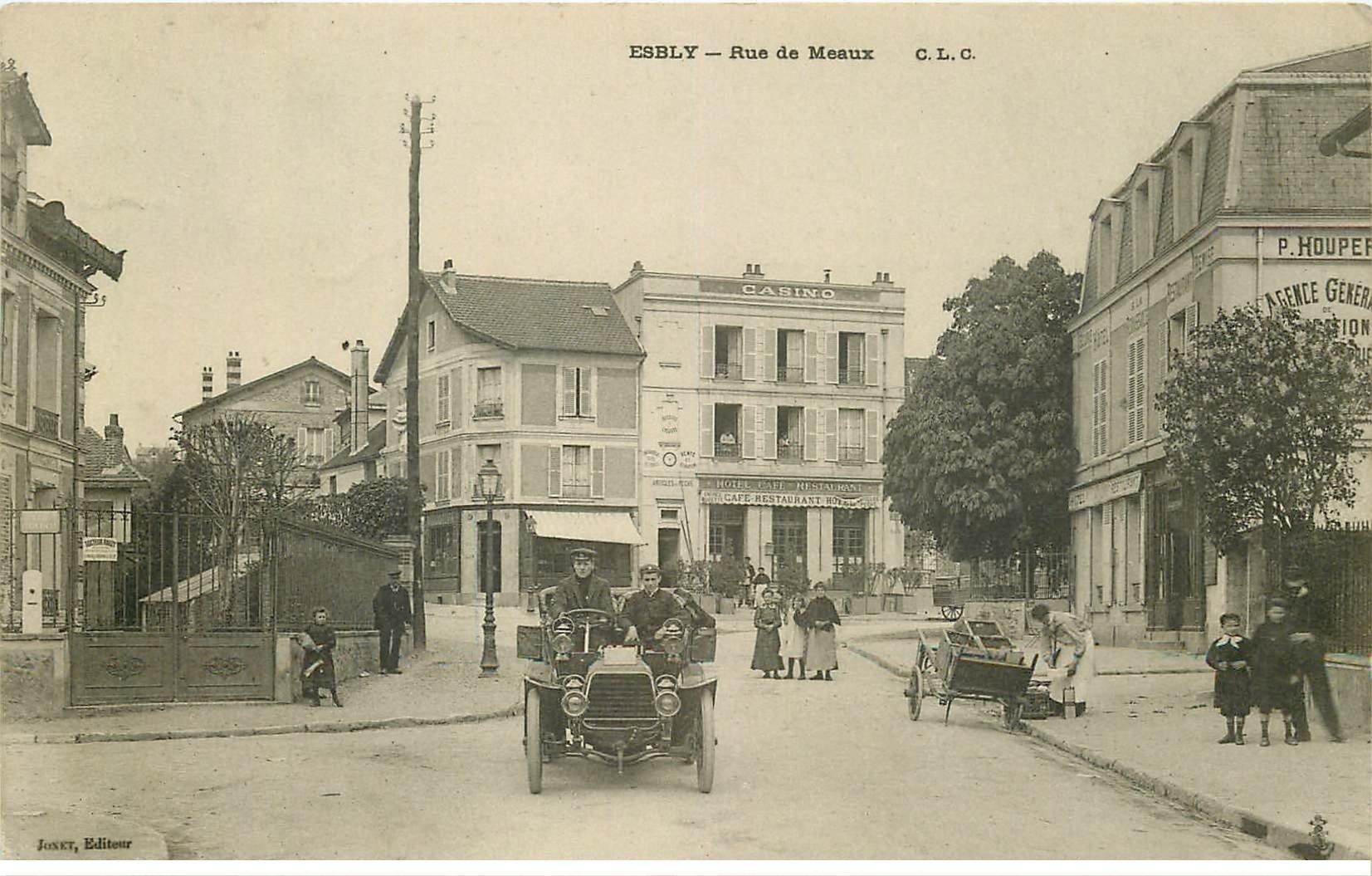 77 Esbly  Superbe Voiture Ancienne Rue De Meaux Et F U00e9lix