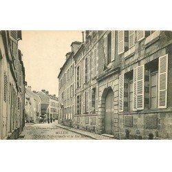 carte postale ancienne 77 MELUN. Ecole Professionnelle Rue Neuve attelage