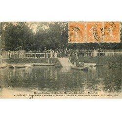 carte postale ancienne 77 MELUN. Hôtel Restaurant de la Maison Blanche 1924