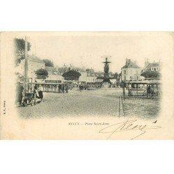 carte postale ancienne 77 MELUN. Le Marché Place Saint-Jean 1902