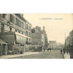77 FONTAINEBLEAU. Superbe lot de 18 CPA. Magasin Cartes Postales Rue Grande, la Paroisse, route Melun, Chasse à Courre