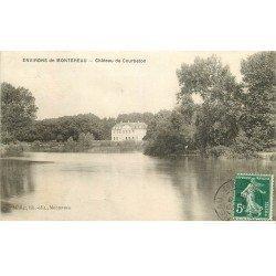 carte postale ancienne 77 MONTEREAU. Château de Courbeton 1908