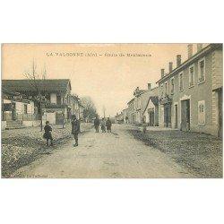 carte postale ancienne 01 LA VALBONNE. Route de Meximieux 1916. Café Marseillais