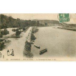 carte postale ancienne 77 MONTEREAU. Promenade des Noues 1922